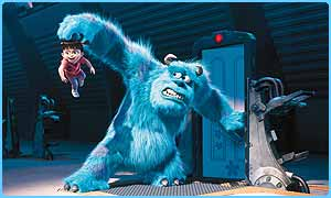Monsters, Inc. is the UK's top film