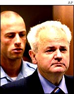 Slobodan Milosevic in The Hague