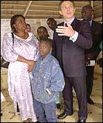 Tony Blair in Senegal