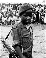 Ugandan child soldier