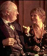 John Bayley and Iris Murdoch, as played by Jim Broadbent and Judi Dench