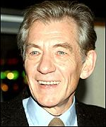 Sir Ian McKellen played Gandalf in Fellowship of the Ring
