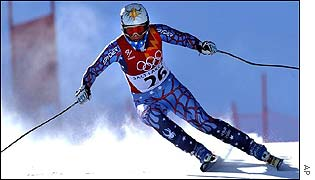 Picabo Street in action during her final run