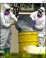FBI officials investigate the anthrax outbreak