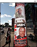 Election posters in Harare