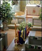 The coffin of Princess Margaret in St James's Palace