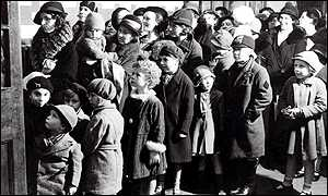 Children queuing up for outpatients