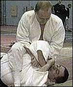 President Putin performing a judo throw