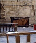 Lincoln Cathedral's damaged chapel