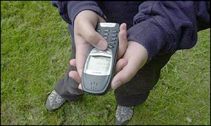 Text message on a mobile phone