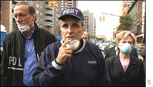 Mr Giuliani was on the scene of the World Trade Center disaster within hours
