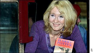 JK Rowling has three books in the top six