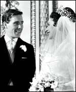 Princess Margaret and Earl Snowdon at their wedding