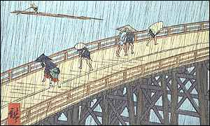 Hiroshige's A Heavy Shower on Ohashi Bridge