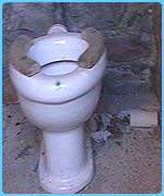 These are how the toilets use to look at a school in Brynaman, Wales
