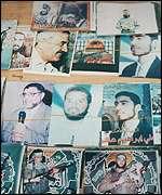 Fotos de responsables de atentados suicidas.