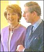 Prince Charles and Mary McAleese