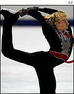 Evgeny Plushenko in action