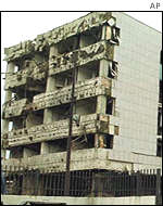 The bombed Chinese embassy in Belgrade