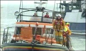 Lifeboats are helping in the search