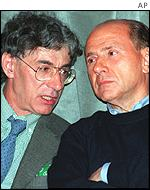 Umberto Bossi and Silvio Berlusconi