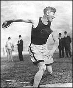 Jim Thorpe in action during the 1912 Olympics