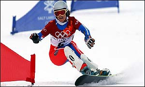 Isabelle Blanc slides to gold in the parallel slalom final