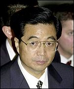 Chinese Vice President Hu Jintao