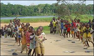 African children at play