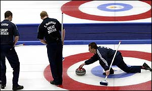 The GB men's curling team on Saturday