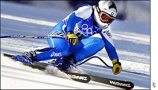 Daniella Ceccarelli in action in the women's super-G