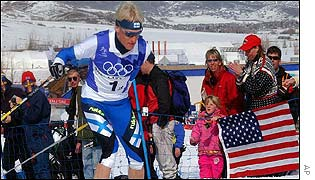 Finland triumph in the Olympic Nordic combined event at Salt Lake City.