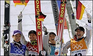 Germany's ski jumpers