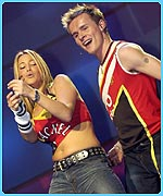 Rachel announced her engagement before an S Club 7 gig at Wembley
