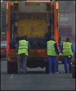 Refuse collectors and lorry