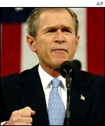 President George W Bush gives State of the Union address