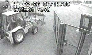 JCB digger caught on CCTV