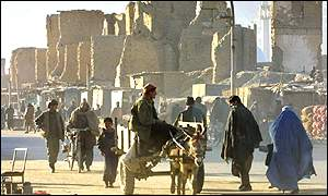 Kabul is largely in ruins
