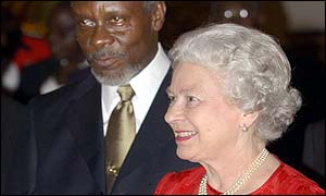 The Queen and Jamaican Prime Minister Percival PJ Patterson