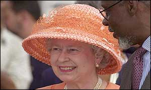 The Queen with Jamaican Prime Minister PJ Patterson