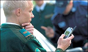 Man using a Nokia phone