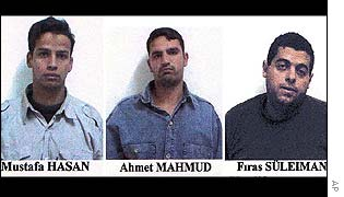 Al-Qaeda suspects in pictures released by Turkish police