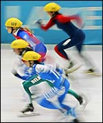 Short-track speed skating heats