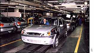 Ford Fiesta production line at Dagenham