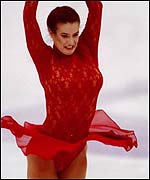 Katarina Witt performed a different routine for Playboy magazine