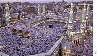 Thousands of pilgrims surround the Kaabah in Mecca