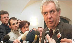 Milos Zeman questioned by journalists on his comments