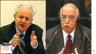 Slobodan Milosevic and Mahmut Bakalli