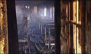 Interior of the train after the fire