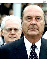 Lionel Jospin (back), Jacques Chirac